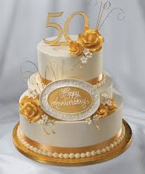 golden wedding cakes astonishing decoration 50th anniversary cakes interesting design