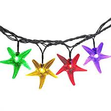 Amazon Com Outdoor Christmas Decorations by Luckled Starfish Solar String Lights 20ft 30 Led Fairy Decorative