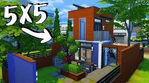 tiny modern home 5x5 tiny modern home sims 4 house building youtube