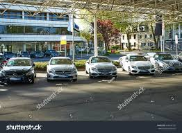 mercedes showroom moenchengladbach germany april 30 2017 mercedes stock photo