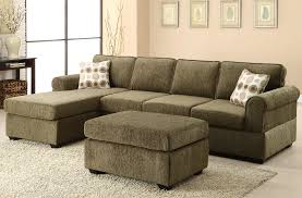 Sofa With Reversible Chaise Lounge by Likable Olive Green Fabric Sectional Sofa With Chaise And
