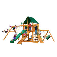 gorilla playsets great skye ii with timber shield cedar playset 01
