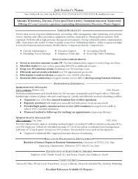 Resume Template Entry Level Sample Of An Administrative Assistant Resume Great Administrative