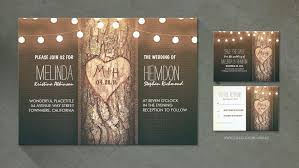 carved bridal read more rustic carved heart tree stylish wedding invites