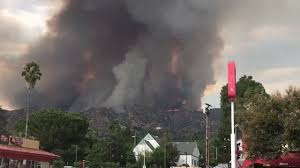Wildfire La Area by Crazy Fires Burning Burbank La Tuna Canyon Tujunga Sunland