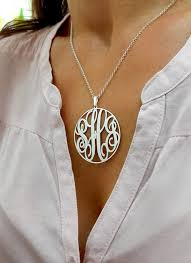 cheap monogram necklace best 25 sterling silver monogram necklace ideas on