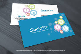 3 social media business cards business card templates creative
