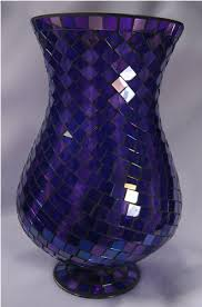 Hurricaine Vase Purple Mosaic Hurricane Vase