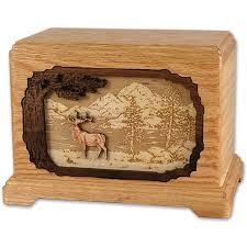 wooden urns for ashes s collection urn with 3d inlay wood