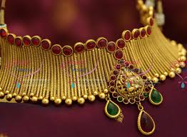 gold choker necklace set images Nl4176 kemp temple jewellery grand gold design choker jewellery JPG