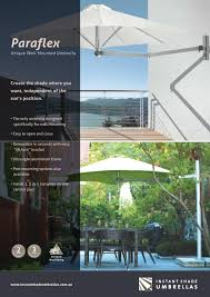 Wall Mounted Shade Umbrella by Paraflex Umbrellas For Your Patio Furniture By Instant Shade
