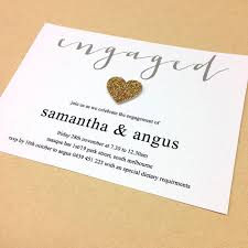 Engagement Ceremony Invitation 10 Gold Engagement Party Invitations For Your Spectacular Bash