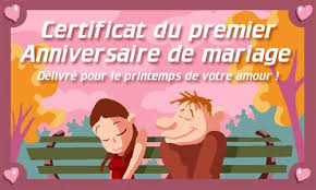 carte virtuelle anniversaire de mariage carte 1er anniversaire de mariage cybercartes