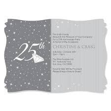 25th wedding anniversary invites 25th wedding anniversary