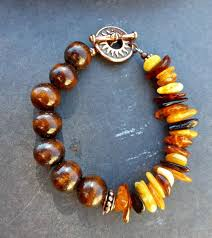 amber bead bracelet images Wooden bead bracelets genuine baltic amber wood and copper metal jpg