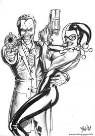 Joker And Harley Quinn Coloring Pages Kids Coloring Joker And Coloring Pages Joker