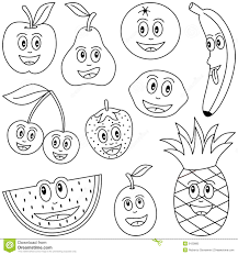 coloring fruit for kids stock vector image of contour 9150885