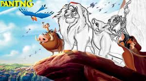 lion king coloring book kids