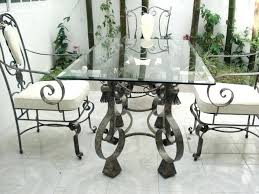 wrought iron dining table glass top wrought iron kitchen table naderve info