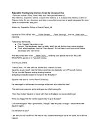 adjustable thanksgiving script or reader s theater about squanto