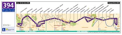 Route Map by Ratp Route Maps For Paris Bus Lines 390 Through To 399
