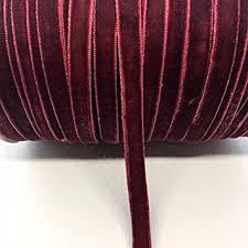 burgundy velvet ribbon 1 8 velvet ribbon single selling per 10 yards
