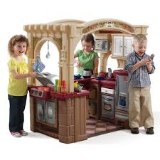 step2 table and chairs green and tan grand walk in kitchen grill kids play kitchen step2