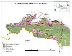 Nepal On Map Royal Chitwan National Park Nepal Map Chitwan Park Nepal U2022 Mappery