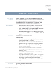 Civil Engineering Sample Resume Resume Samples Of Civil Engineer