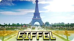 Paris World Map by Minecraft Eiffel Tower In Minecraft Huge Paris Map Cinematic