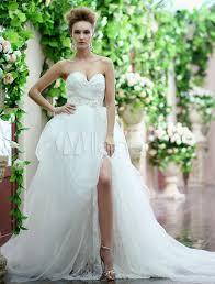 milanoo robe de mari e robe de mariée encolure coeur et traîne amovible milanoo
