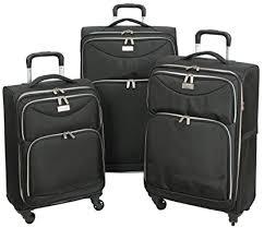 ultra light luggage sets amazon com geoffrey beene ultra light weight midnight 3 piece set
