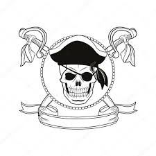 cartoon pirate tattoo design u2014 stock vector jemastock 121549308