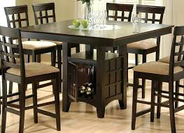 square pub table with storage square pub table sets thelt co