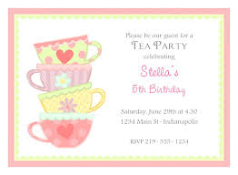 bridal tea party invitation tea party invitations ryanbradley co