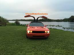 Dodge Challenger Orange - four door dodge challenger srt8 has rear gullwing doors for sale