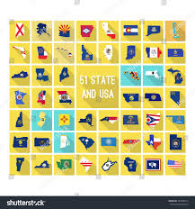 American State Map by Set Maps All 51 American States Stock Vector 343680716 Shutterstock