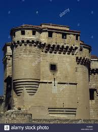 spain castile and leon cuellar the castle of the dukes of stock