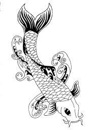 designs by sabin compi tribal koi fish