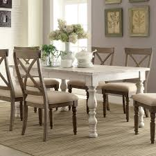 natural wood kitchen table and chairs aberdeen wood rectangular dining table in weathered worn white
