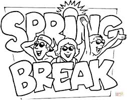 spring break coloring free printable coloring pages