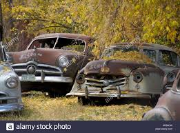 opel car 1950 classic car junk yard scrap retro 1950 u0027s 1950 old stock photo