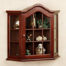 curio cabinet wall mount display cabinet bathroom with mirror