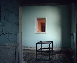 blue room abandoned room urban decay free shipping fine art