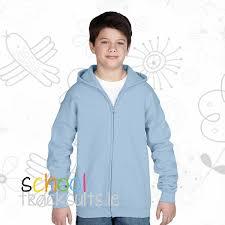 plain light blue hoodie gildan gd58b kids plain full zip hoodie tracksuits