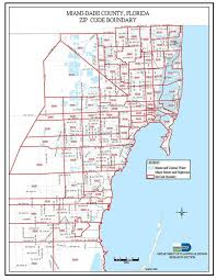 Zip Code Maps by Miami Zip Code Map Zip Code Miami Map Florida Usa