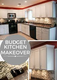 Kitchen Countertop Ideas On A Budget by Best 25 Budget Kitchen Makeovers Ideas On Pinterest Cheap