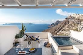 a luxury hotel in santorini revamped by interior design laboratorium