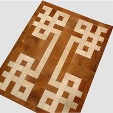 Patchwork Area Rug Brown Cowhides Cow Fur Patchwork Area Rug Carpets In Rug