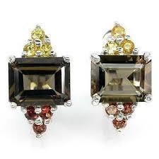 smoky quartz earrings smoky quartz ebay